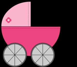 Illustration von einem Kinderwagen