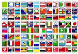 Illustratioen verschiedener Flaggen