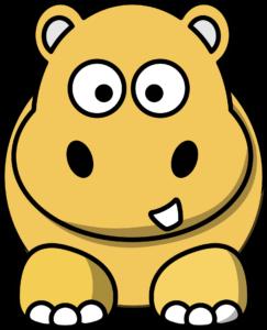 Illustration von einem Nilpferd