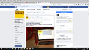 Screenshot der Facebook Seite der MARKE Elternbildung
